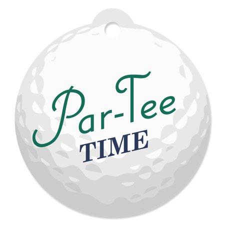 Par-Tee Time - Golf - Birthday or Retirement Party Favor Gift Tags (Set of 20) - Golf Favors Ideas