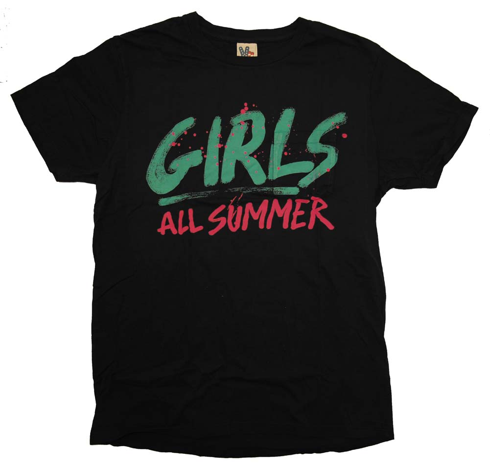 Girls All Summer Junk Food Vintage Style Adult T-Shirt Tee
