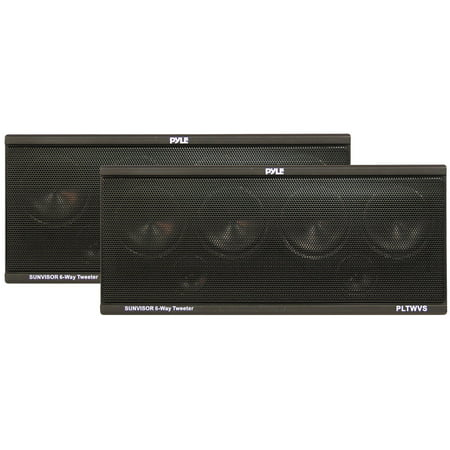 PYLE PLTWVS - 6-Way Sunvisor Mount 200 Watt Tweeter System