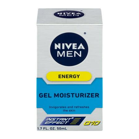 Nivea For Men Energy Face Care Instant Effect Gel Q10 Moisturizer, 1.7 FL OZ