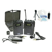 Pro UHF Wireless Microphone System w/ Lavalier for Sony Alpha SLT-A77 SLT-A65