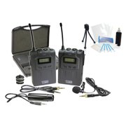Pro UHF Wireless Microphone System w/ Lavalier for Olympus PEN E-PL2 EPL2 E-PL1