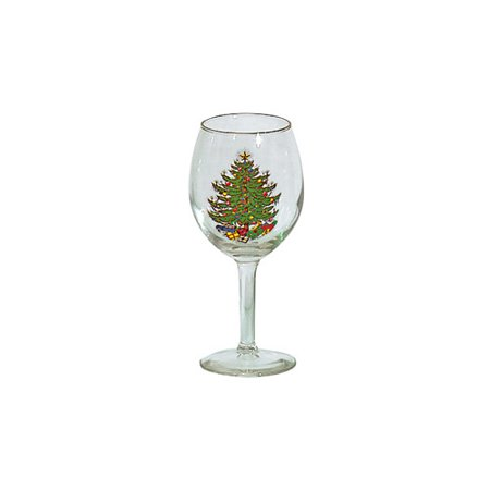 The Holiday Aisle Original Christmas Tree 11 oz. Stemmed Wine Glass (Set of 4)