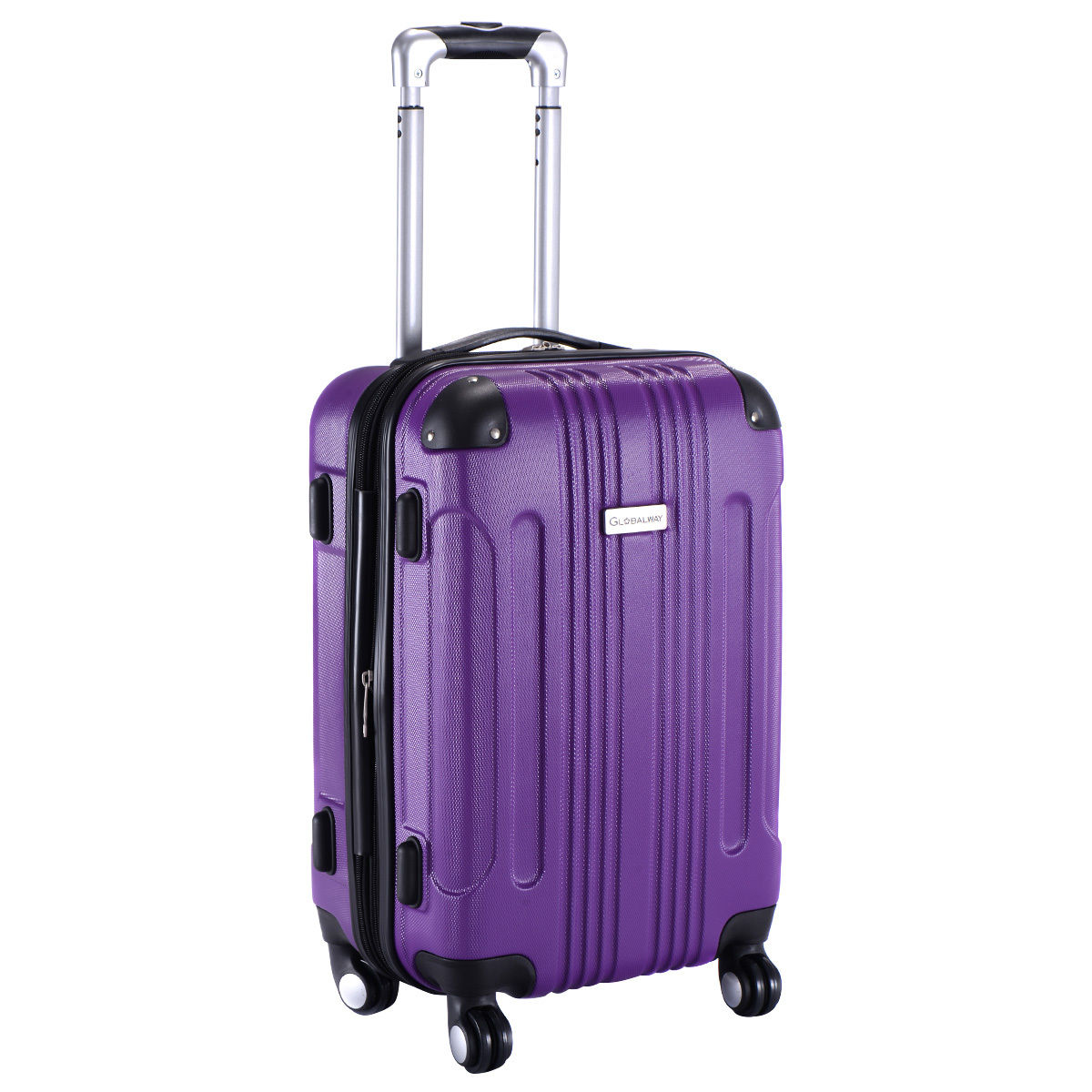 GLOBALWAY Expandable 20'' ABS Luggage Carry on Travel Bag Trolley ...