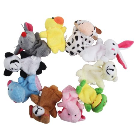 10 pcs Baby Fingers Plays Learn Animal Puppet Toys Velvet Dolls Storytime Game - Games With Babies