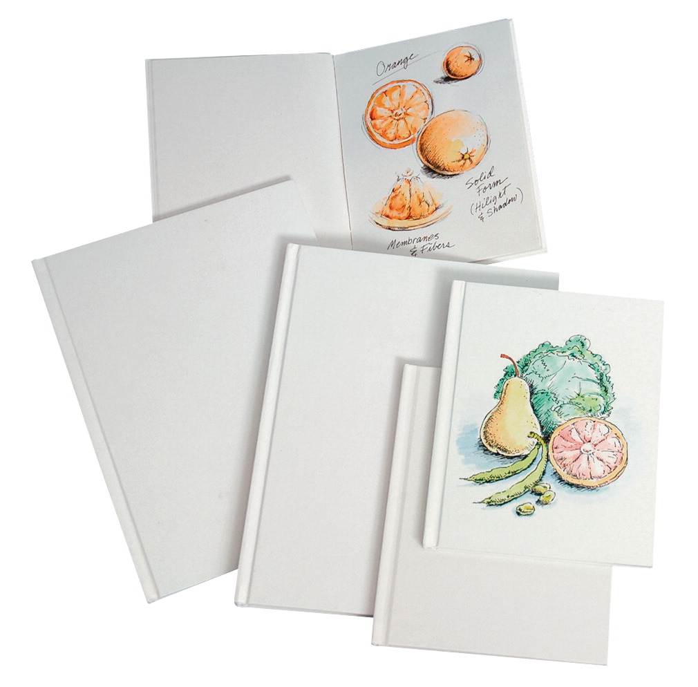 """Sax Blanc 28-Page Hard Cover Sketch Books, 8.5"""" x 11"""", White, Pack of 4"""