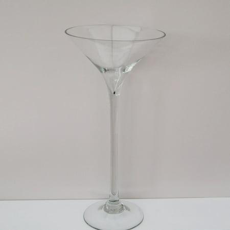 Jumbo Martini Glass Vase Centerpiece, 20-inch - Martini Glass Centerpiece