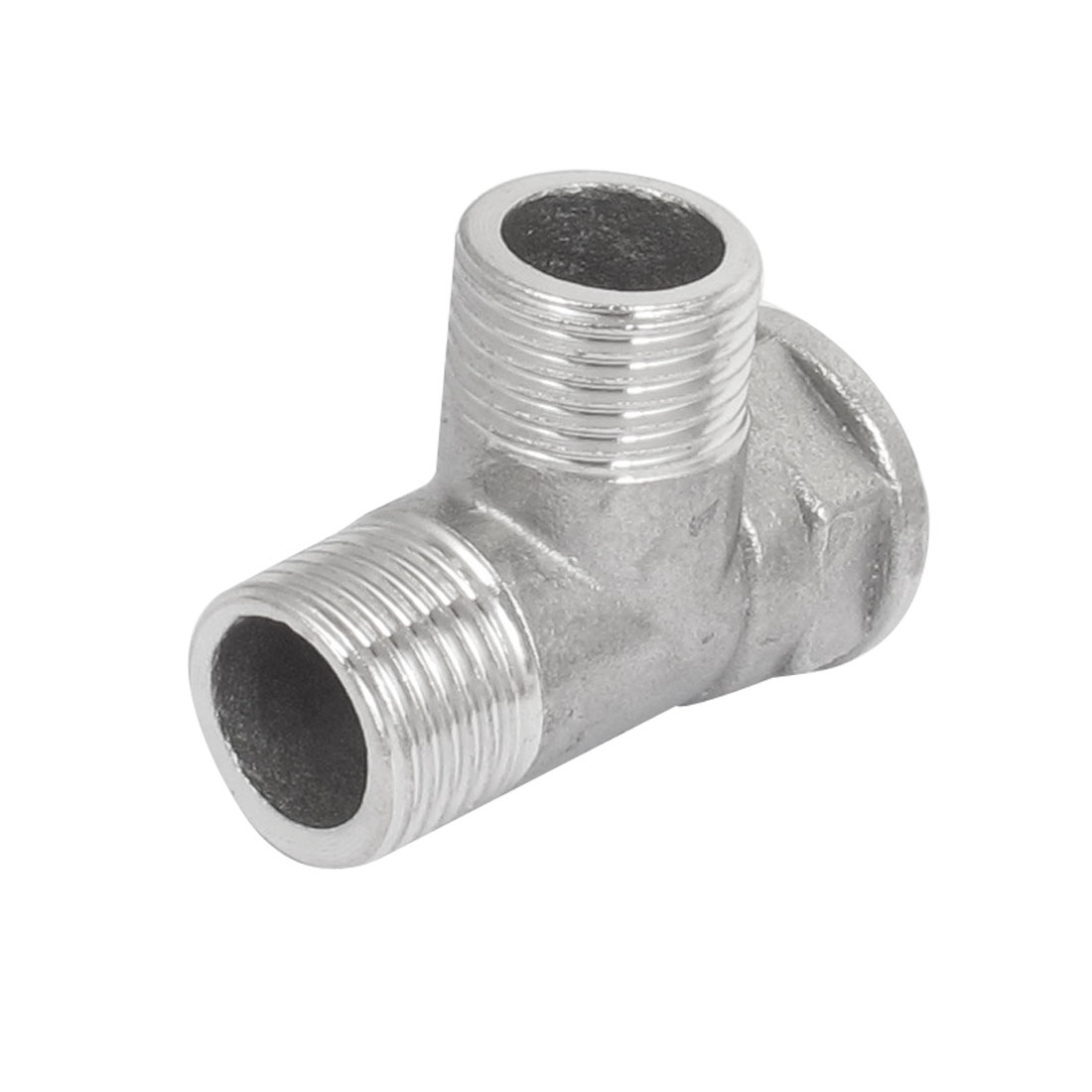 1/2BSP Dual Male to Female Thread Stainless Steel Pipe Fitting Connector - image 1 of 2