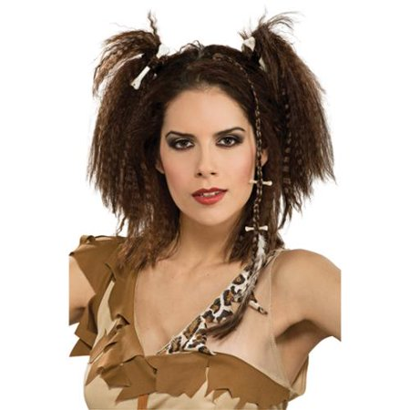 Caveman Woman Stone Age Barbarian Costume Hairpiece (Caveman Halloween)