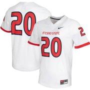 #20 Fresno State Bulldogs Nike Untouchable Game Jersey - White