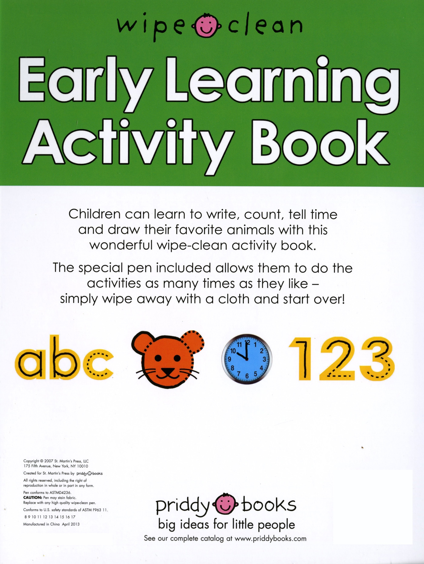 Wipe Clean: Early Learning Activity Book - Walmart.com