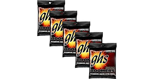 GHS Electric Guitar Boomers Light Strings 5 Pack by GHS