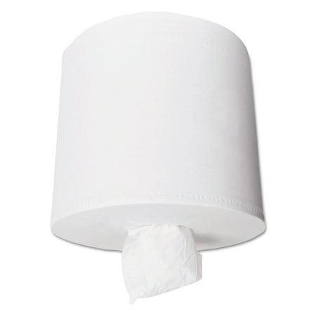 Kleenex White Hard Roll - Kleenex Premiere Center-Pull Towels, Perforated, 15 x 8, 8 2/5 dia, 250/Roll, 4 Rolls/Ct