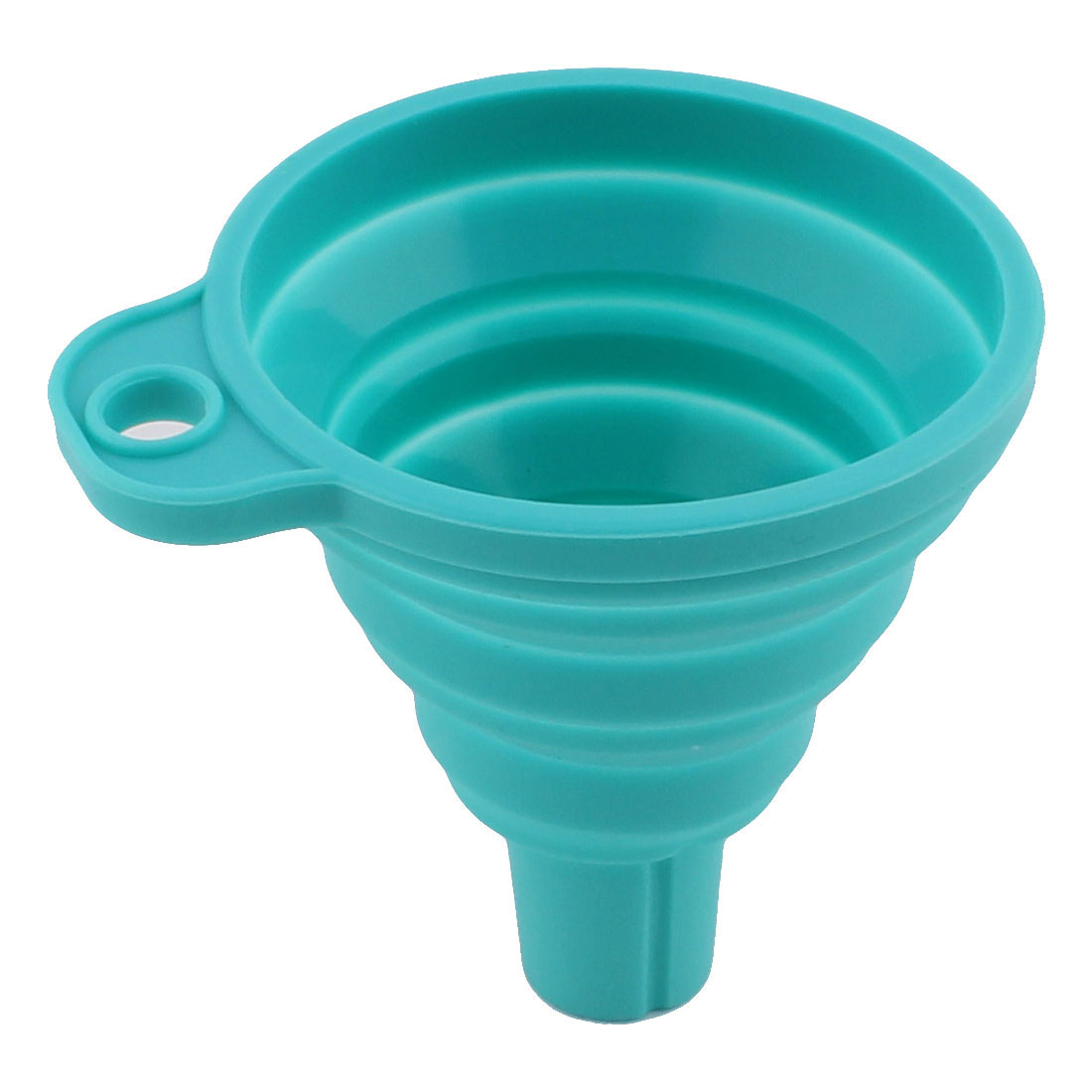 Family Kitchen Utensil Silicone Wine Oil Water Liquid Filter Funnel Holder Blue