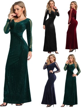 c7d1fc1081 Product Image Ever-Pretty Womens Long Sleeve Velvet Winter Formal Evening  Cocktail Party Dresses for Women 07394