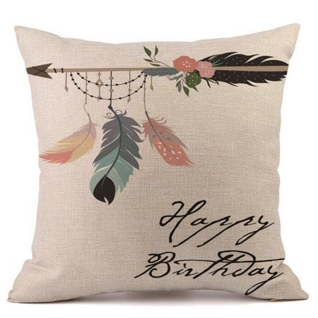 binmer merry christmas pillow cases linen sofa cushion cover home decor