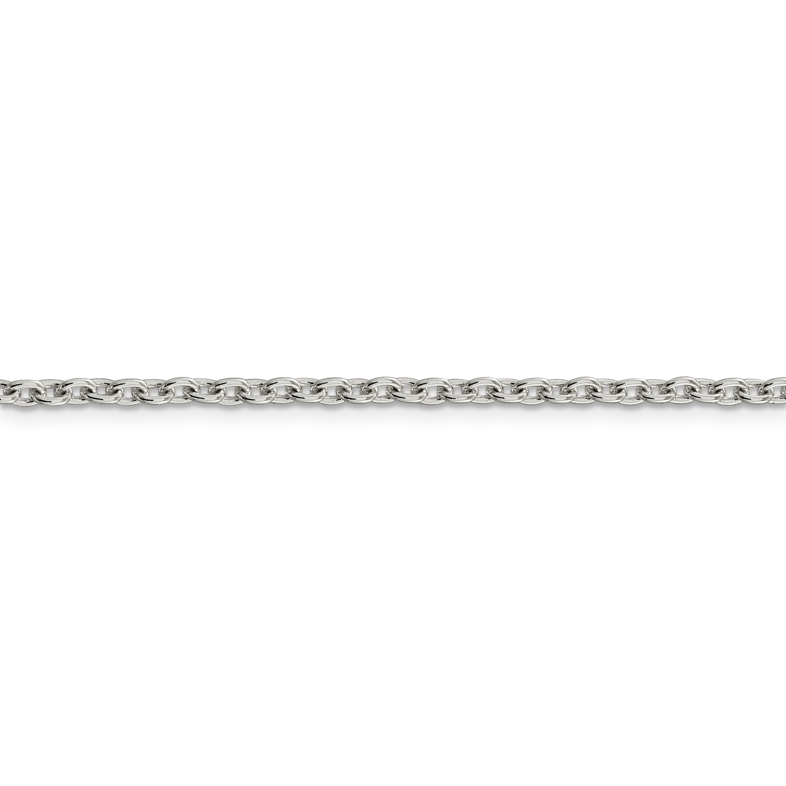 925 Sterling Silver 2.75mm Cable Chain 20 Inch - image 3 de 5