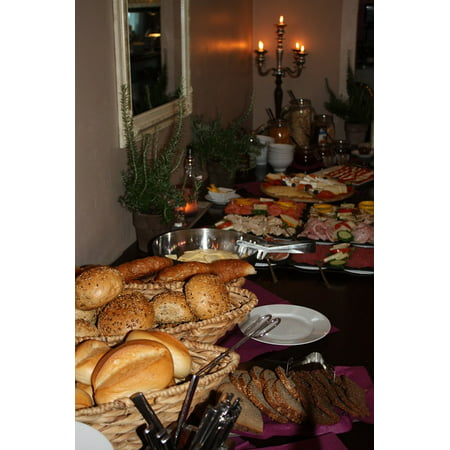 Canvas Print Breakfast Buffet Bread Roll Buffet Breakfast Stretched Canvas 10 x 14](Breakfast Buffet Ideas)