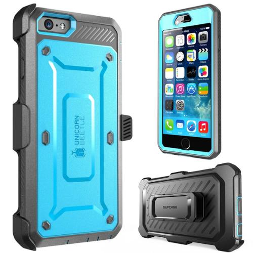 "SUPCASE Apple iPhone 6 Plus 5.5"" Case - Unicorn Beetle Pro Series Protective Cover with Built-in Screen - Blue Black"