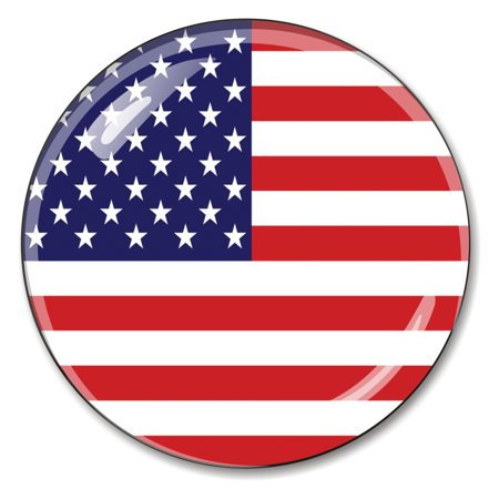 Optical Crystal Diamond Paperweight - American Flag Crystal Paperweight