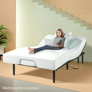 Zinus Jared Adjustable Black Metal Bed Base with Remote, Queen