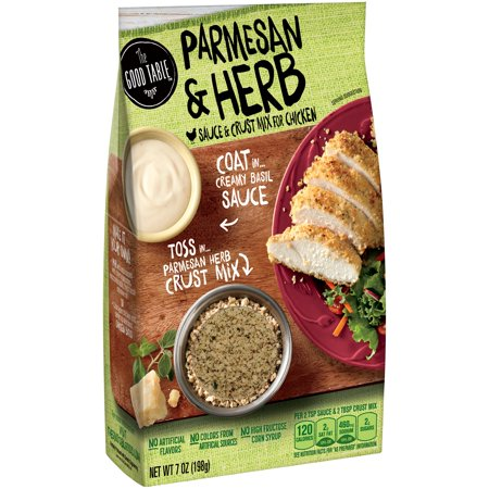 The Good Table Parmesan   Herb Sauce   Crust Mix For Chicken  7 Oz
