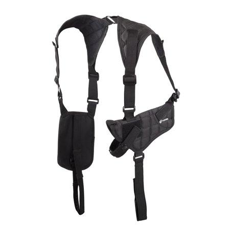 Crosman CSHB Shoulder Holster with Adjustable side straps, fits most handguns, (Black Holster)