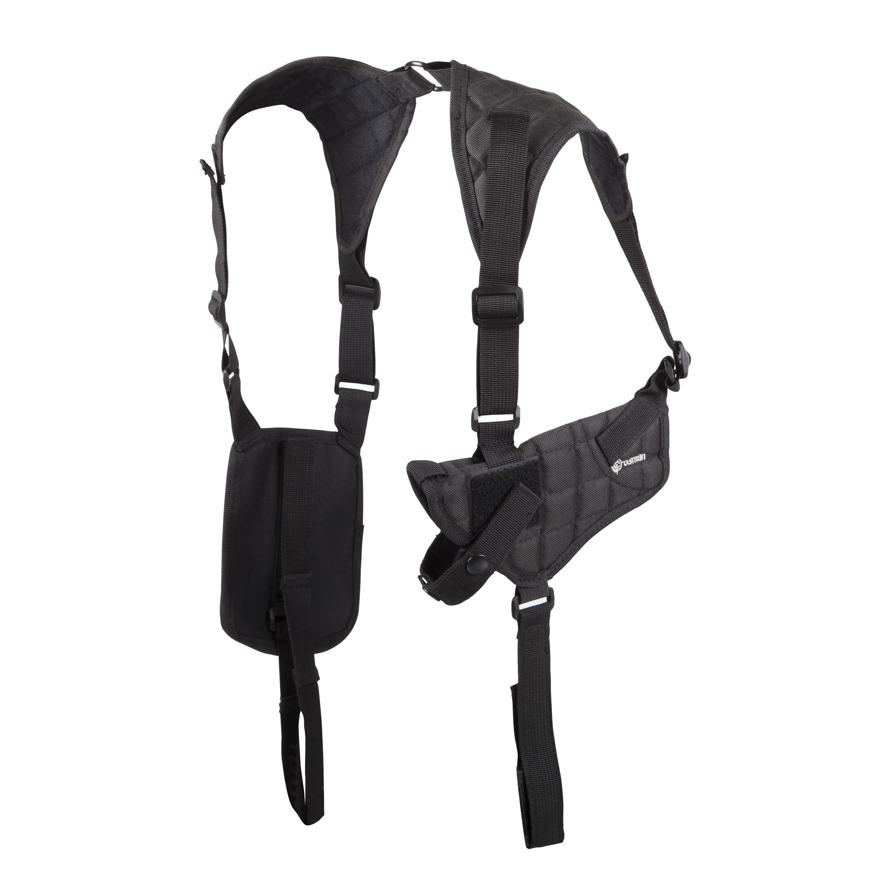 Crosman CSHB Shoulder Holster with Adjustable side straps, fits most handguns, black
