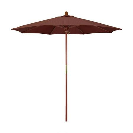 California Umbrella Grove Series Patio Market Umbrella in Olefin with Wood Pole Hardwood Ribs Push