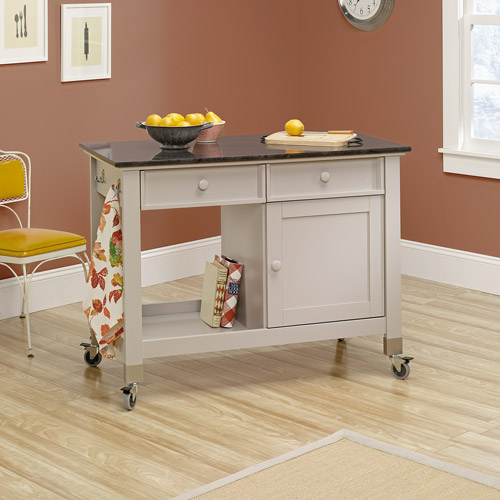 mobile islands for kitchens sauder original cottage mobile kitchen island cobblestone 7560
