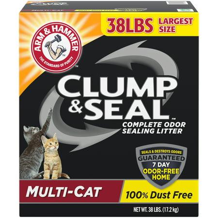 Arm & Hammer Clump & Seal Litter, Multi-Cat Litter 38 lb. Multi Cat Litter