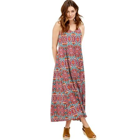 Ellos Plus Size Crisscross Back Maxi Dress