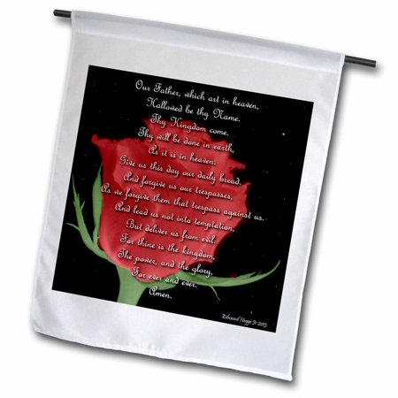 Image of 3dRose The Lords Prayer - Garden Flag, 12 by 18-inch
