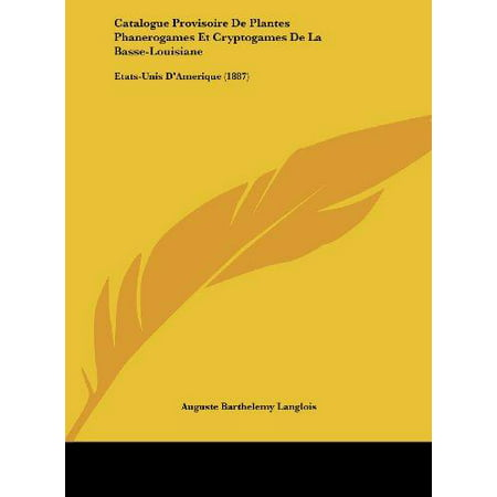 catalogue provisoire de plantes phanerogames et On catalogue de plantes