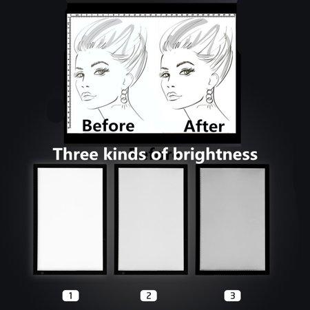 Knifun A2 LED Tracing Light Box Stencil Drawing Board Pattern Art Design Light Pad(US plug), LED Light Pad, Lightbox Tracing Board ()