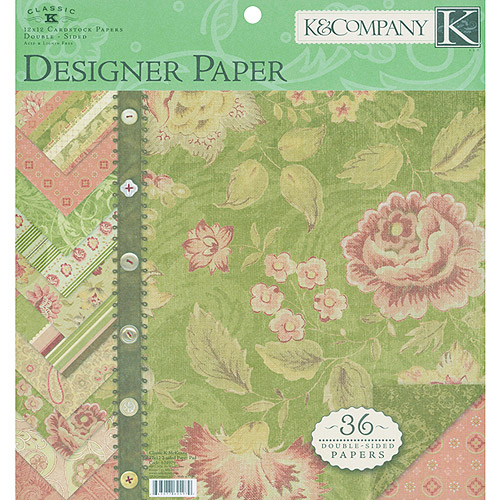 Classic K Two-Sided Paper Pad 12X12 Mckenna 36 Sheets, 3 each/12 Designs