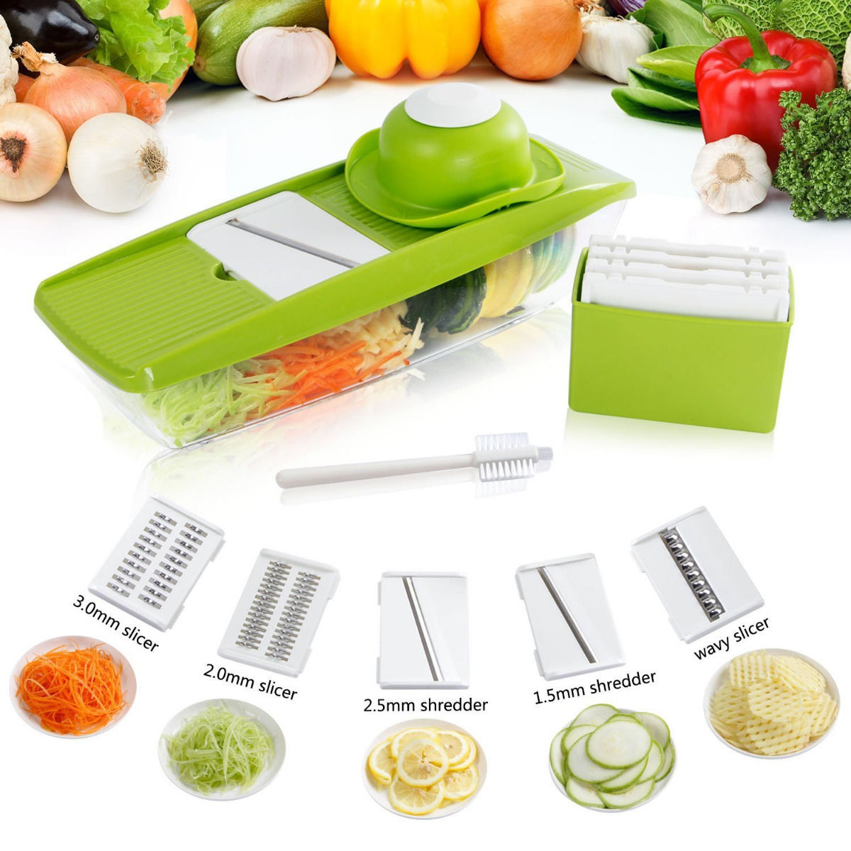 Lifewit Super mandolin Slicer Plus Vegetable Fruit Dicer Cutter Chopper Nicer Grater ABS by