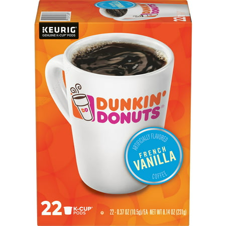 Dunkin' Donuts French Vanilla K-Cup Coffee Pods, 22 Count For Keurig and K-Cup Compatible