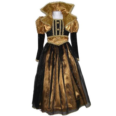 Child Gold Black Renaissance Gown Costume Forum Novelties 62570
