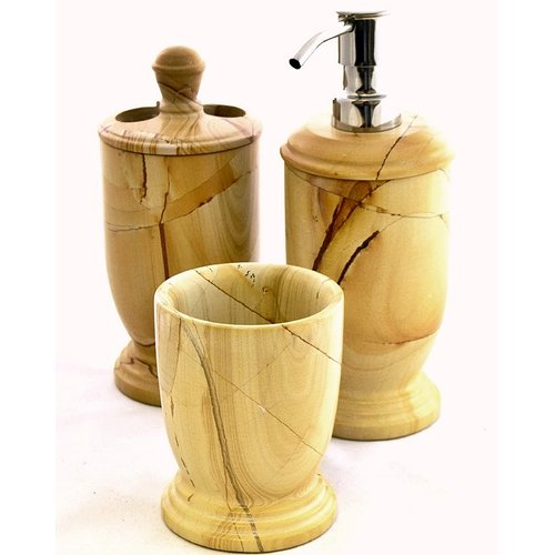 Nature Home Decor Series 300 in Teakwood Marble Toothbrush Holder