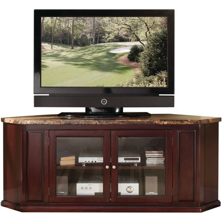 Acme Nevin Faux Marble And Espresso Corner Tv Stand For