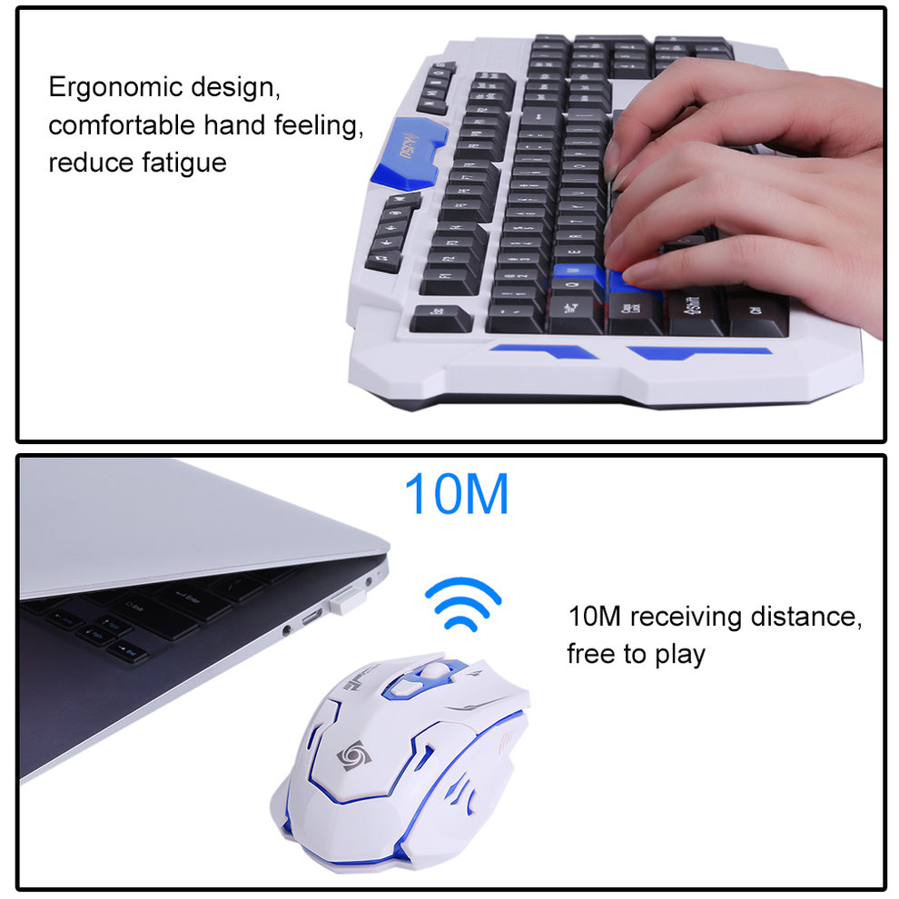 Intelligent Wireless 2.4G Gaming Keyboard And Mouse Computer Mice For Computer PC Laptop Multimedia Gamer HK8100