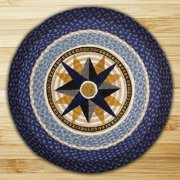 "earth rugs 66-350c round rug, 27"", dark light blue/crme"