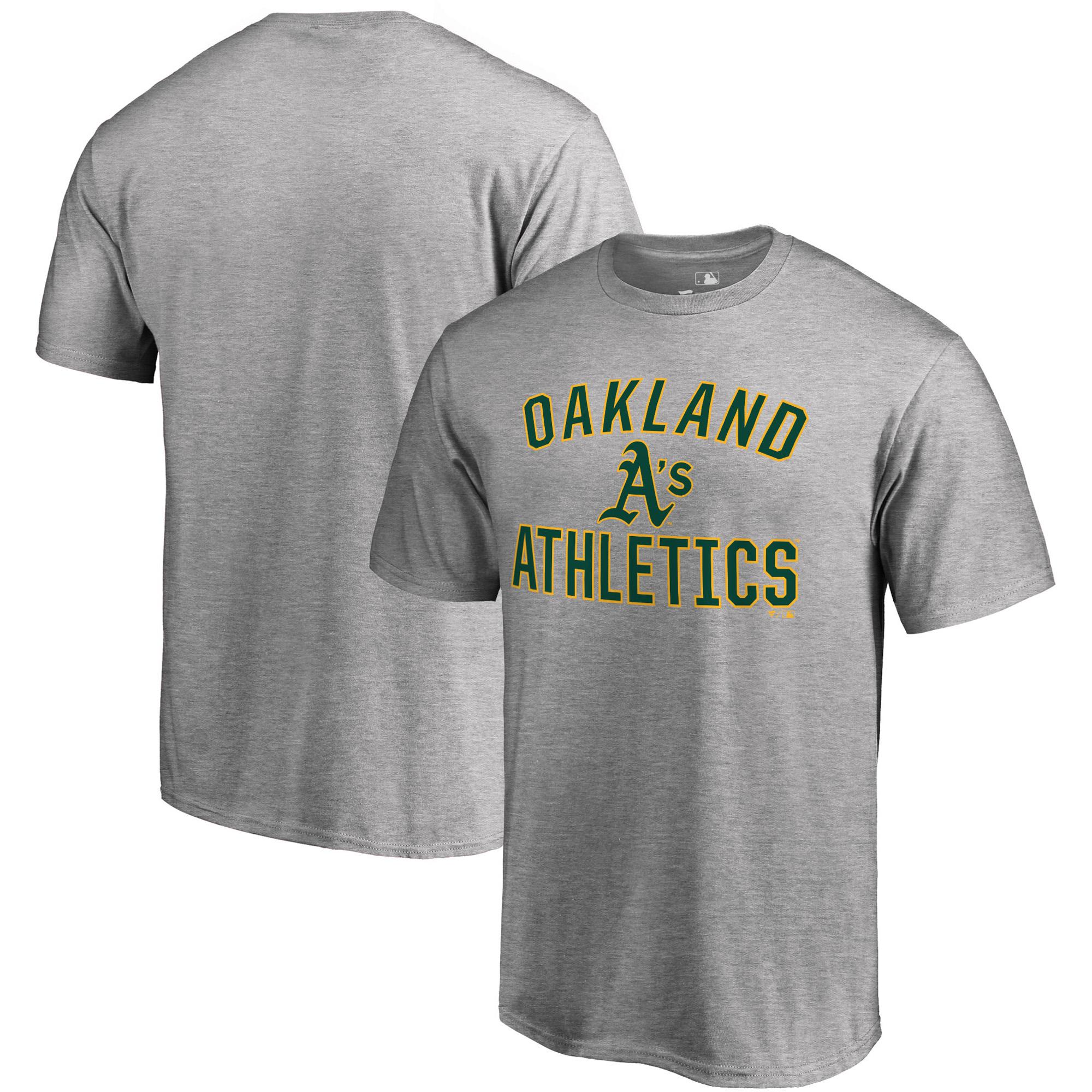 Oakland Athletics Fanatics Branded Victory Arch T-Shirt - Heathered Gray