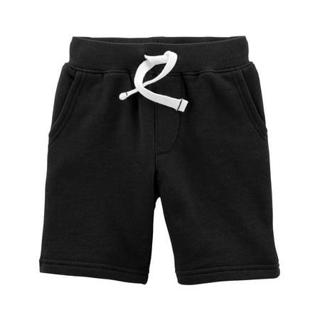 Carter's Little Boys' Easy Pull-On Knit Shorts, Black, 2-Toddler