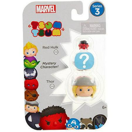 Marvel Tsum Tsum Series 3 Red Hulk & Thor Minifigure 3-Pack](Hulk 3)