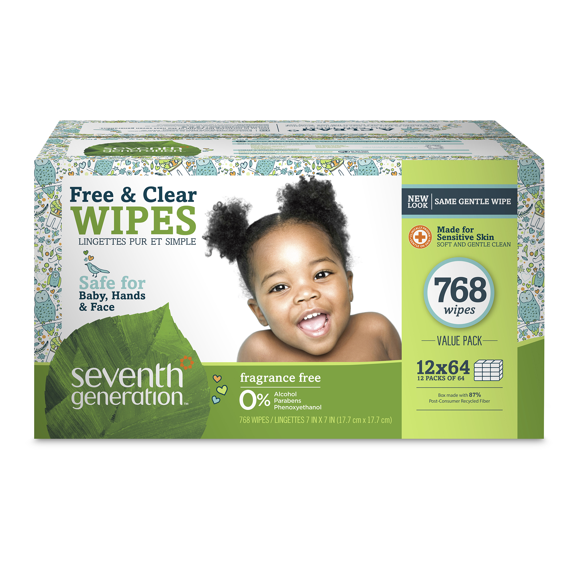 Seventh Generation Baby Wipes, Free & Clear, 768ct by Seventh Generation