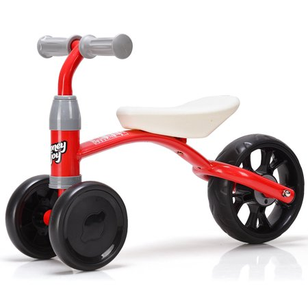 Costway 3 Wheels Kids Balance Bike Tricycle Toy Rides Baby Walker No Foot Pedal
