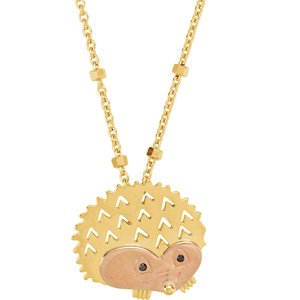Jewels By Lux 18K Yellow & Rose Vermeil Hedgehog Symbol for Protection 17