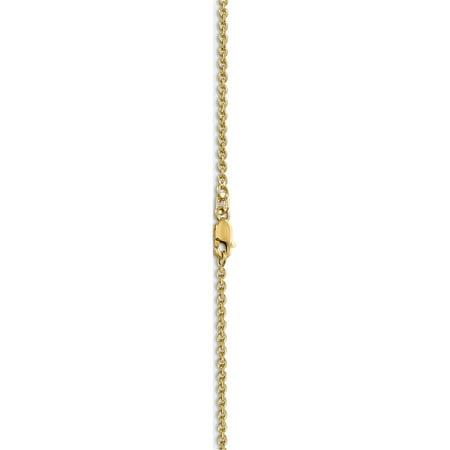 10k or jaune 2 mm solide Anklet for?at poli - image 2 de 4